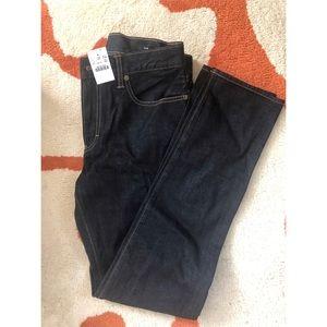 NWT J.Crew Men's dark rinse slim-fit jeans